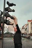 Statua dei musicisti della città di Brema Fotografie Stock Libere da Diritti