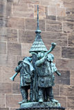 Statua dei musicisti della tromba Fotografia Stock