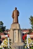 Statua del ancora-sen del sole Immagini Stock Libere da Diritti