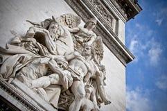 Statua del Arc de Triomphe Fotografie Stock Libere da Diritti