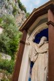 Statua del benedettino nel monastero del benedettino Fotografia Stock Libera da Diritti