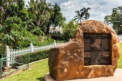 Statua del bombardamento del Darwin, Australia fotografia stock libera da diritti