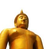 Statua del Buddha con il percorso di residuo della potatura meccanica Immagini Stock Libere da Diritti