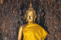 Statua del buddha dell'oro Immagine Stock Libera da Diritti