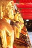 Statua del Buddha di Wat Pho Tailandia fotografia stock