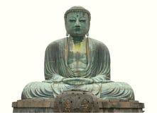 Statua del Buddha isolata con il percorso Immagini Stock Libere da Diritti