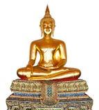 Statua del Buddha isolata su bianco. Fotografia Stock