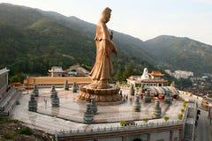 Statua del Buddha a Kek Lok Si Malesia Fotografia Stock Libera da Diritti