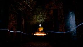 Statua del Buddha nella sosta storica di Sukhothai Fotografie Stock Libere da Diritti