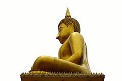 Statua del Buddha su una priorità bassa bianca Immagini Stock