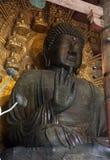 Statua del Buddha in tempiale di Todai-ji, Nara Fotografia Stock Libera da Diritti