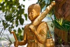 Statua del Buddha in tempiale tailandese Fotografie Stock Libere da Diritti