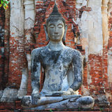 Statua del Buddha [Wat Mahathat] Immagini Stock Libere da Diritti