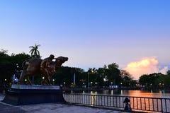 Statua del bufalo d'acqua Immagini Stock Libere da Diritti