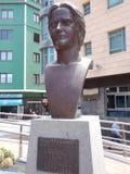 Statua del cantante famoso di opera di tenore di Suso Mariategui di grande latta Immagini Stock Libere da Diritti