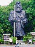 Statua del capo al villaggio del Ainu di Shiraoi Immagini Stock Libere da Diritti