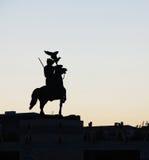 Statua del cavaliere fotografia stock