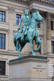 Statua del cavallo da equitazione di Friedrich Wilhelm a Braunschweig Immagine Stock Libera da Diritti