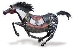 Statua del cavallo di ferro immagine stock