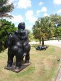 Statua del cavallo e della donna Fotografia Stock