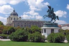Statua del cavallo a Volksgarten Vienna Immagini Stock Libere da Diritti