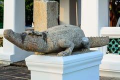 Statua del coccodrillo. Fotografie Stock