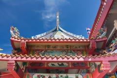 Statua del comune dell'isola di galleggiamento del tempio di Guanyin immagini stock