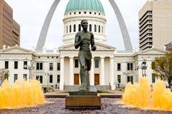 Statua del corridore a St. Louis Fotografia Stock