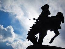 statua del cowboy Fotografia Stock