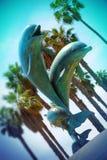 """Statua del delfino al lungomare nel †""""California di Santa Barbara Immagini Stock Libere da Diritti"""