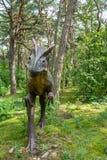 Statua del dinosauro di allosauro Fotografie Stock Libere da Diritti