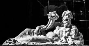 Statua del dio di Nilo Fotografia Stock