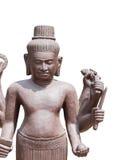 Statua del dio di Shiva, isolata su bianco Fotografie Stock Libere da Diritti