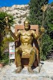 Statua del dio greco Zeus fotografia stock libera da diritti