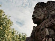 Statua del dio indù in tempio di Bali Fotografie Stock