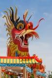 Statua del drago con bello Fotografia Stock Libera da Diritti