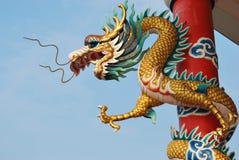 Statua del drago di stile cinese Fotografia Stock Libera da Diritti
