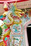 Statua del drago di stile cinese Fotografia Stock