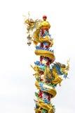 Statua del drago di stile cinese Fotografie Stock