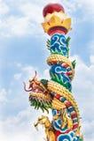 Statua del drago di stile cinese Immagini Stock Libere da Diritti