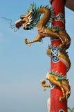 Statua del drago di stile di Chinest Immagini Stock