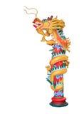 Statua del drago su fondo bianco Fotografia Stock Libera da Diritti