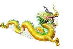 Statua del drago su priorità bassa bianca immagini stock libere da diritti