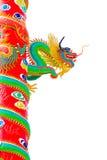 Statua del drago su priorità bassa bianca Immagine Stock