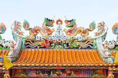 Statua del drago sul tetto Immagine Stock