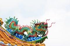 Statua del drago verde Fotografie Stock