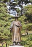 Statua del ferro dell'ufficiale confuciano. Medio Evo Asia fotografia stock libera da diritti