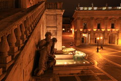 Statua del fiume Nilo, Palazzo Senatorio, Рим, Италия Стоковая Фотография RF