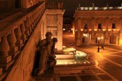 Statua Del Fiume Nilo, Palazzo Senatorio, Rzym, Włochy fotografia royalty free