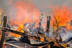 Statua del fuoco di madre Terra Immagini Stock